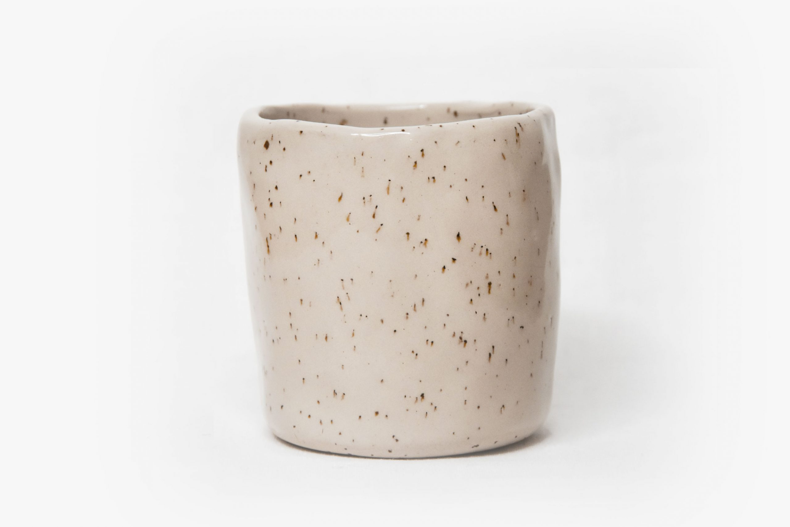 CUP M – SPECKLED WHITE